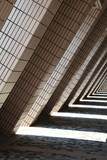 L shaped architecture and shadows of Hong Kong Cultural Centre - 21236183