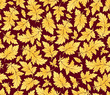 vector seamless gold leaves pattern