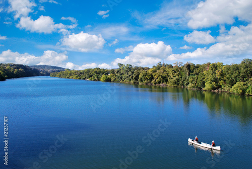 Foto op Canvas Texas Kayaking in town lake in austin texas usa