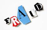 mot fraud fraide lettre caligraphie papier relief poster
