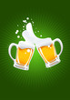 roleta: two beer mugs