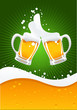 roleta: two beer mugs and wave
