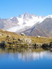 Les Cheserys et massif du Mont Blanc