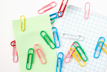 write note on it with paper clips