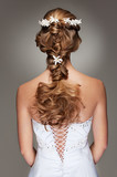 beautiful haircut with small flowers - 21243598