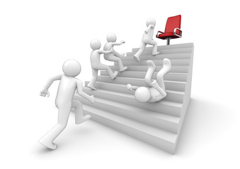 Running on the ladder of success