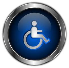 icones boutons handicapé bleu