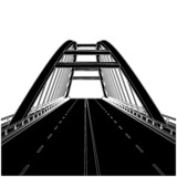 Fototapety Road The Bridge Vector 01