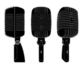 Retro Microphone Vector 01