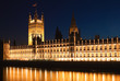 The Houses of Parliament iluminated at night