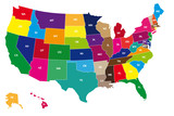 Fototapety Color map of USA