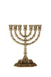 Menorah isolated on white