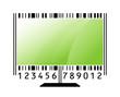 monitor stylized as barcode