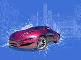 Concept car. My own car design.