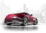 Fototapety Concept car. My own car design.