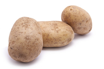 Three Raw Potatoes