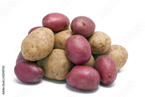 poster of Stack of Regular and Red Skinned Potatoes