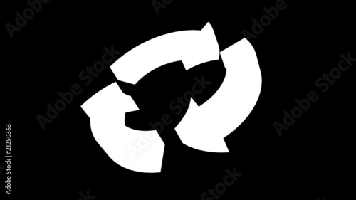 Recycle arrow HDTV