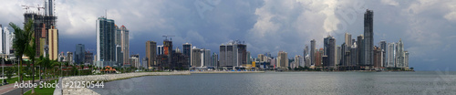 Panorama of Panama City skyline