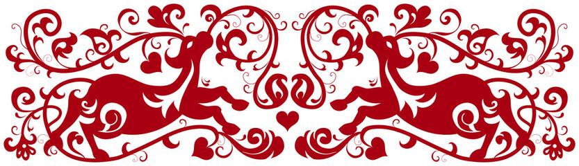 flower and deer pattern