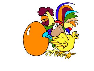 Village bird and chicken and egg