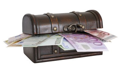 Geld-Schatulle geschlossen  money box closed