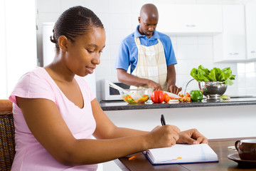 african couple at home