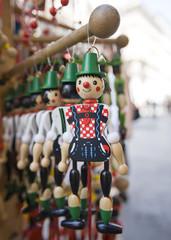 """Buratino"" a wooden fantasy figure"