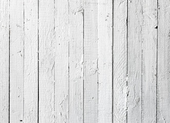 Grunge white painted wooden plank