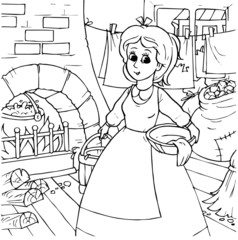 Cinderella at housework