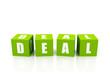 deal cubes, green color
