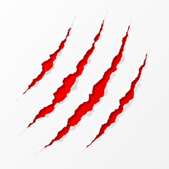 Claws scratches. Easy editable vector illustration.