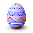 Purple pattern easter egg