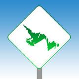 Newfoundland map road sign poster