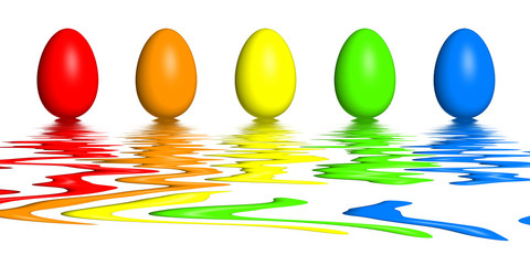 Rainbow Easter Eggs Refelx