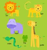 Fototapety Animal and English