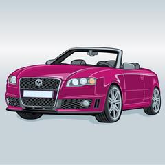rosa kabriolett