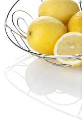lemons in chrome basket
