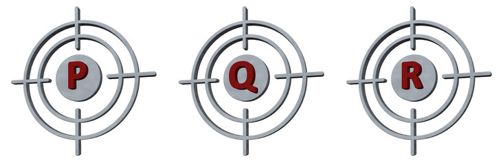 target p, q and r