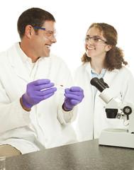 Happy Lab Technicians