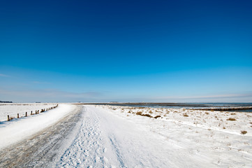 Winterimpression Hallig Hooge