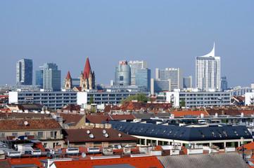 Panorama of Vienna.