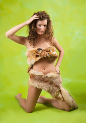 girl in fox fur