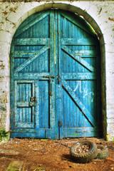 Rundown shed door