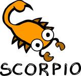 scorpio horoscope sign poster