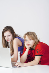 boy and girl with laptop