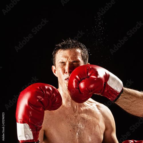boxer being hit