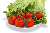 Tomatoes and Lettuce on a Plate