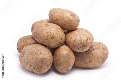Stack of Raw Potatoes