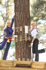 Two women in adventure park